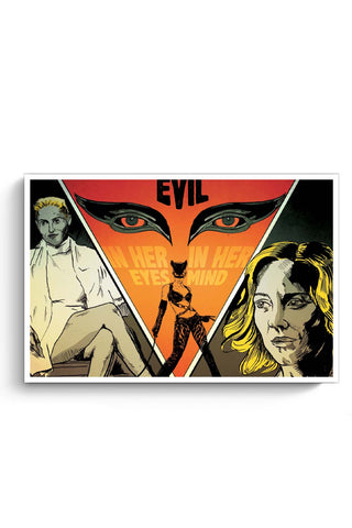 Posters Online | Girls Evil In Her Head Mind And Eyes Poster Online India | Designed by: RJ Artworks