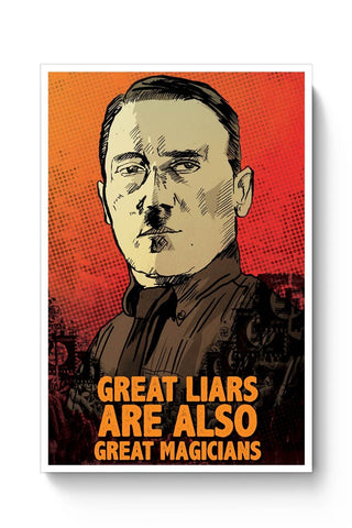 Posters Online | Great Liars Are Also Great Magicians Adolf Hitler Poster Online India | Designed by: RJ Artworks
