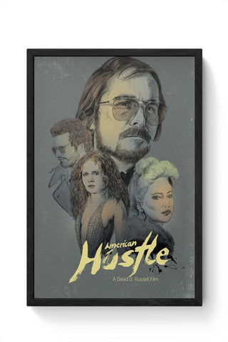 Framed Posters Online India | American Hustle Framed Poster Online India
