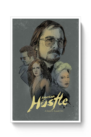 Posters Online | American Hustle Poster Online India | Designed by: RJ Artworks