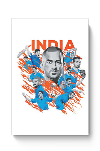Posters Online | Men In Blue Indian Cricket Team Poster Online India | Designed by: RJ Artworks
