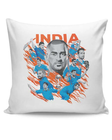 PosterGuy | Men In Blue Indian Cricket Team Cushion Cover Online India