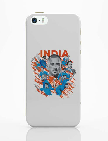 iPhone 5 / 5S Cases & Covers | Men In Blue Indian Cricket Team iPhone 5 / 5S Case Cover Online India