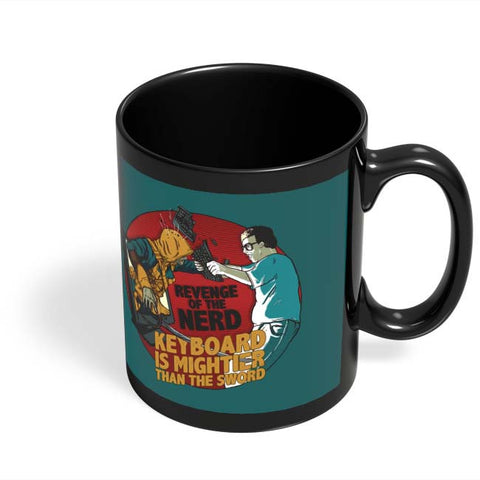 Coffee Mugs Online | Revenge Of The Nerd Black Coffee Mug Online India