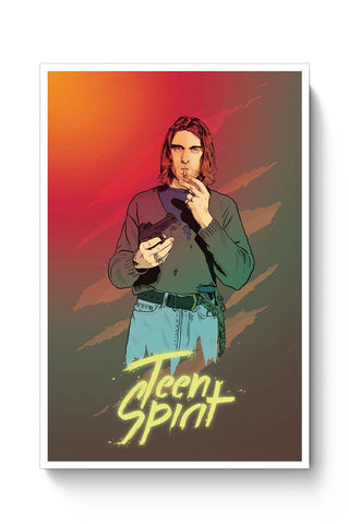 Posters Online | Teen Spirit Kurt Cobain Poster Online India | Designed by: RJ Artworks