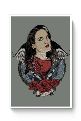 Posters Online | Lana Del Ray Born Ti Die Poster Online India | Designed by: RJ Artworks
