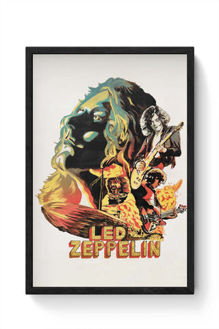 Framed Posters Online India | Led Zeppelin The Best Band Framed Poster Online India