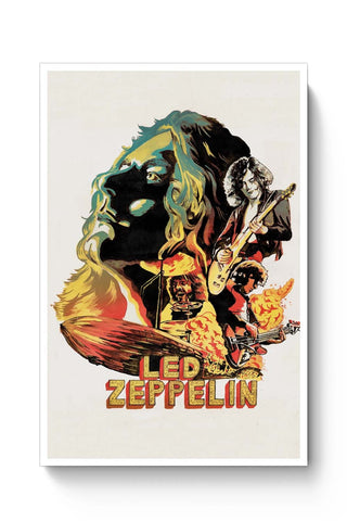 Posters Online | Led Zeppelin The Best Band Poster Online India | Designed by: RJ Artworks