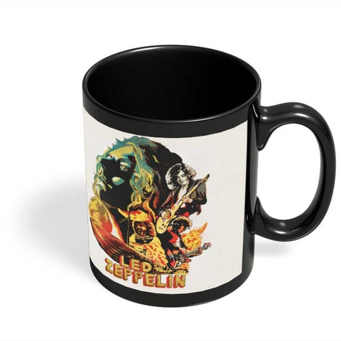 Coffee Mugs Online | Led Zeppelin The Best Band Black Coffee Mug Online India
