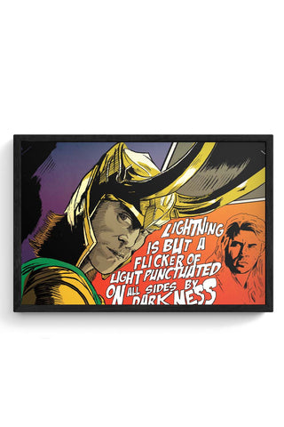 Framed Posters Online India | Loki Darkness Quote Framed Poster Online India