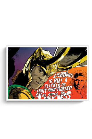 Posters Online | Loki Darkness Quote Poster Online India | Designed by: RJ Artworks