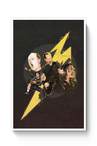 Posters Online | Metallica Lightning Poster Online India | Designed by: RJ Artworks