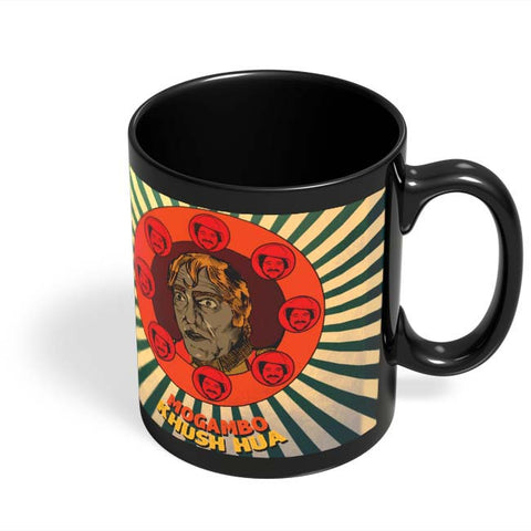 Coffee Mugs Online | Mogambo Khush Hua Black Coffee Mug Online India