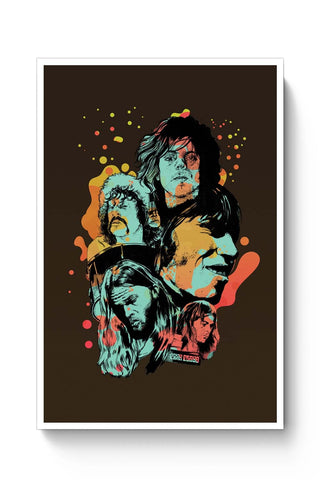 Posters Online | Pink Floyd Modern Art Painting Poster Online India | Designed by: RJ Artworks