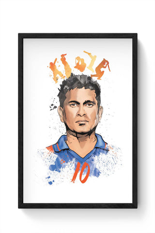 Framed Posters Online India | Sachin Tendulkar No. 10 Framed Poster Online India