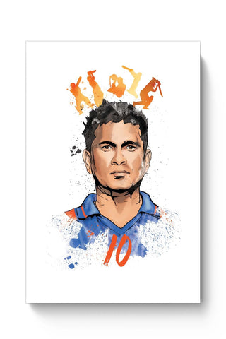 Posters Online | Sachin Tendulkar No. 10 Poster Online India | Designed by: RJ Artworks