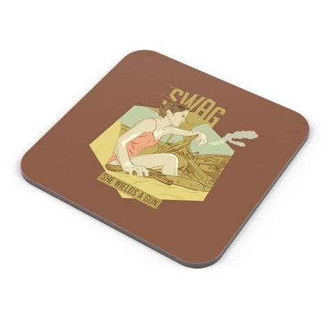 Buy Coasters Online | Swag She Wields A Gun Coasters Online India | PosterGuy.in