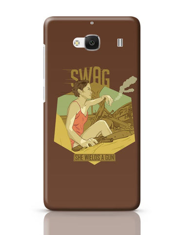 Xiaomi Redmi 2 / Redmi 2 Prime Cover| Swag She Wields A Gun Redmi 2 / Redmi 2 Prime Case Cover Online India