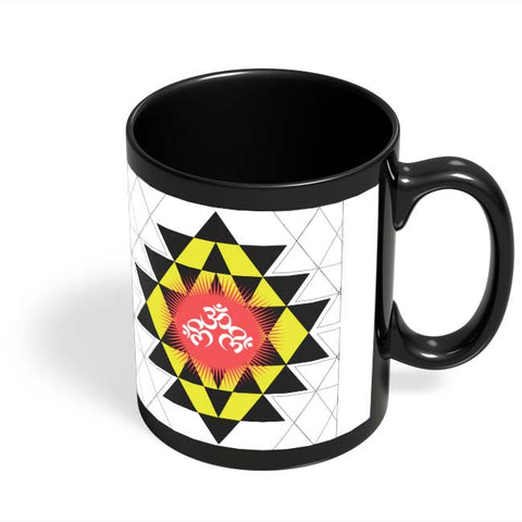 Coffee Mugs Online | Om Shiva Triangle Art Black Coffee Mug Online India