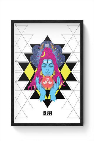 Framed Posters Online India | Om Shiva Triangle Art Framed Poster Online India