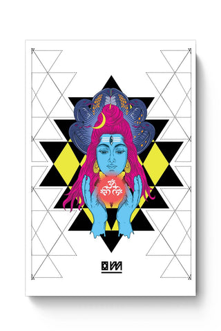 Posters Online | Om Shiva Triangle Art Poster Online India | Designed by: RJ Artworks