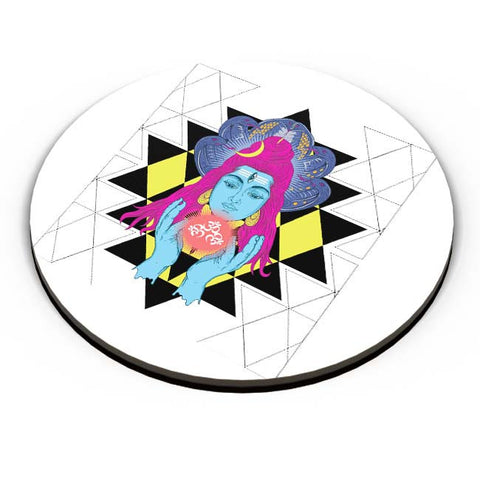 PosterGuy | Om Shiva Triangle Art Fridge Magnet Online India by RJ Artworks