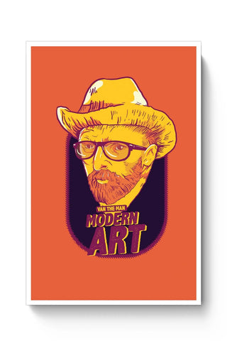 Posters Online | Van Morrison Modern Art Poster Online India | Designed by: RJ Artworks