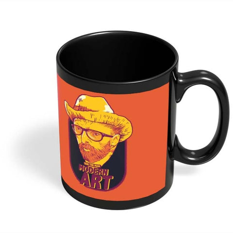 Coffee Mugs Online | Van Morrison Modern Art Black Coffee Mug Online India