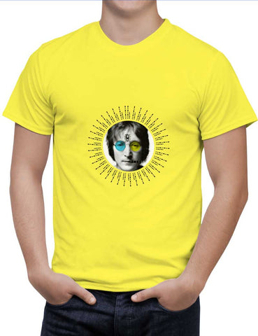 Buy John Lennon Peace Woman T-Shirts Online India | John Lennon Peace T-Shirt | PosterGuy.in