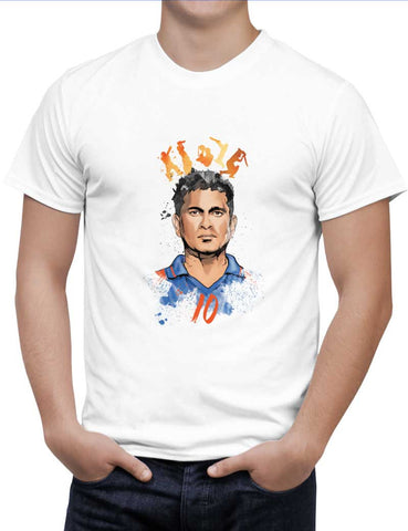 Buy Sachin Tendulkar No. 10 Woman T-Shirts Online India | Sachin Tendulkar No. 10 T-Shirt | PosterGuy.in