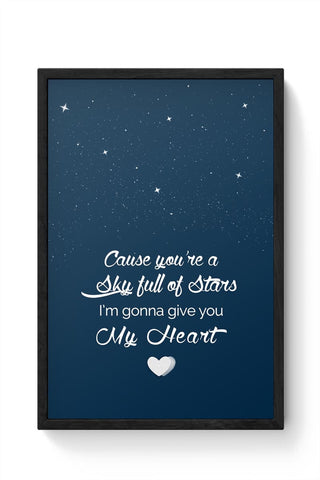 Framed Posters Online India | Sky Full Of Stars Framed Poster Online India