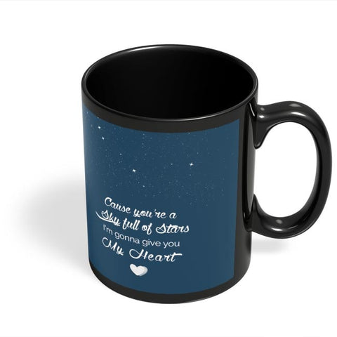 Coffee Mugs Online | Sky Full Of Stars Black Coffee Mug Online India