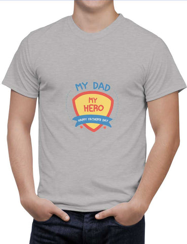 Buy My Dad My Hero Woman T-Shirts Online India | My Dad My Hero T-Shirt | PosterGuy.in