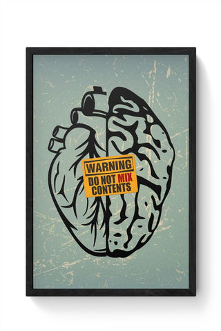 Heart Vs Brain Framed Poster Online India