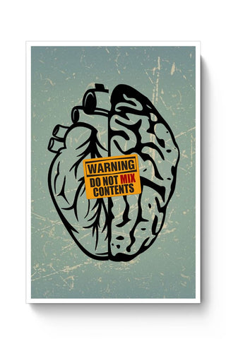 Buy Heart Vs Brain Poster