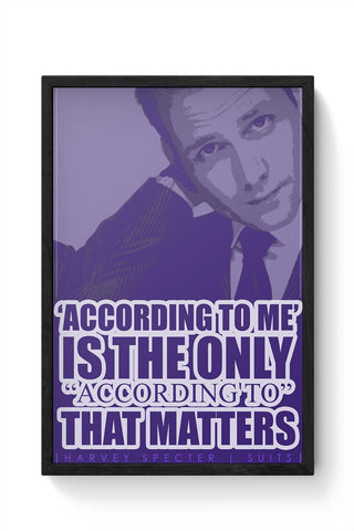 Harvey Specter Quote Framed Poster Online India
