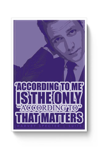 Buy Harvey Specter Quote Poster