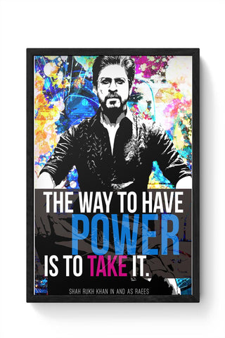 Shah Rukh Khan As Raees Framed Poster Online India