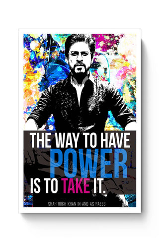 Shah Rukh Khan As Raees Poster Online India