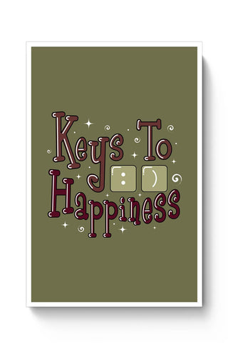Buy Keys To Happiness Poster