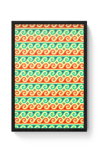 Wavy Pattern Framed Poster Online India