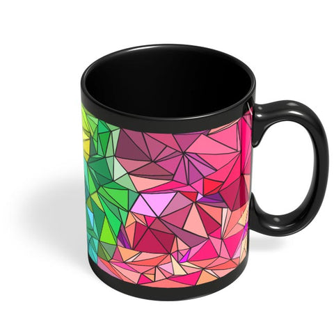 Polygonal Colorful Pattern Black Coffee Mug Online India