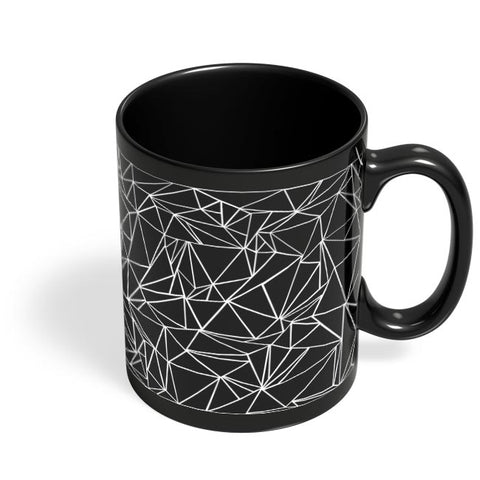 Polygonal Pattern Black Coffee Mug Online India