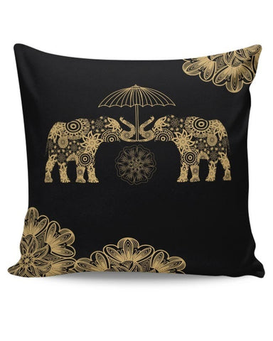 PosterGuy | Gold Elephant Cushion Cover Online India