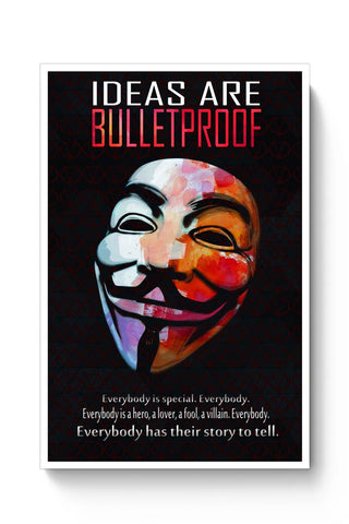 Posters Online | Ideas Are Bulletproof Poster Online India | Designed by: DG Artworks