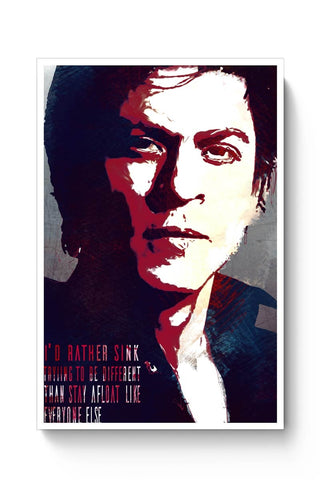 Posters Online | Shahrukh Khan Quote Poster Online India | Designed by: DG Artworks