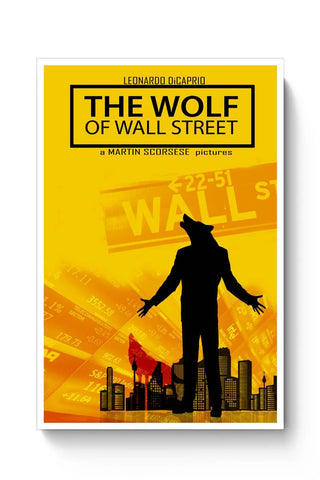 Posters Online | The Wolf Of Wall Street Poster Online India | Designed by: DG Artworks