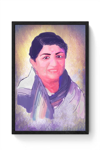 Lata Mangeshkar - Rangeela Re Framed Poster Online India