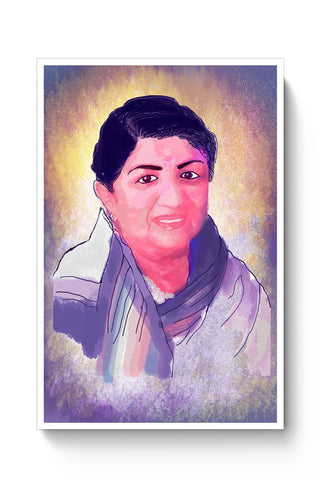 Buy Lata Mangeshkar - Rangeela Re Poster