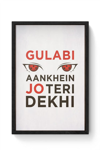 Framed Posters Online India | Sharingan Framed Poster Online India